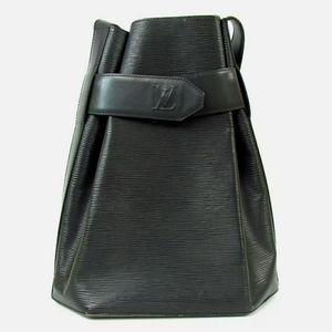 LOUIS VUITTON Black Epi Leather Sac D'Epaule GM